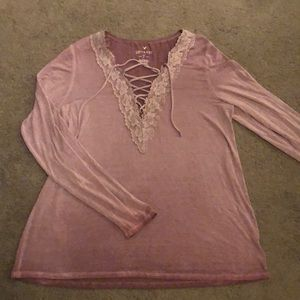 NWOT American Eagle Soft and Sexy criss cross top
